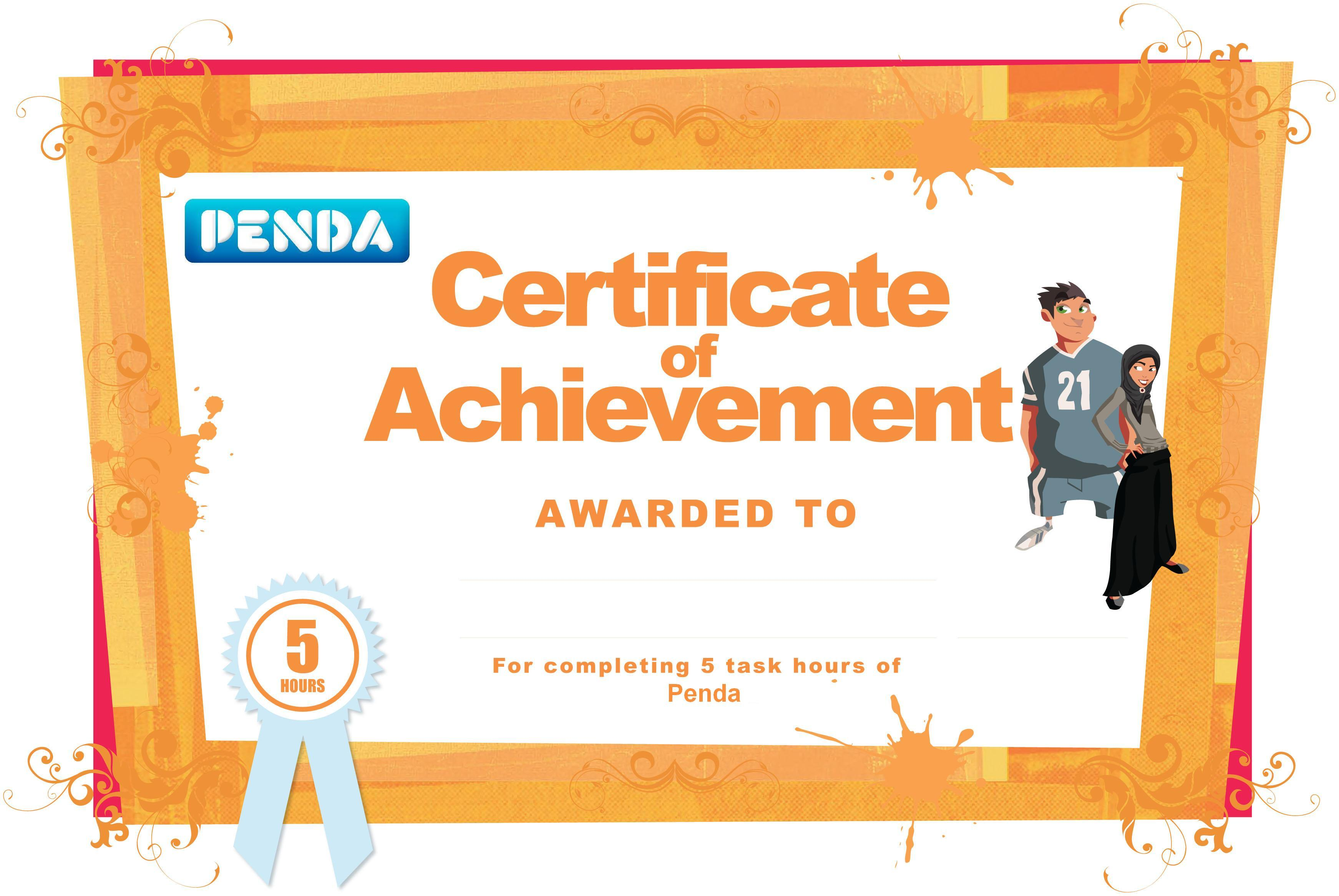 Student Certificates Of Achievement Penda Learning